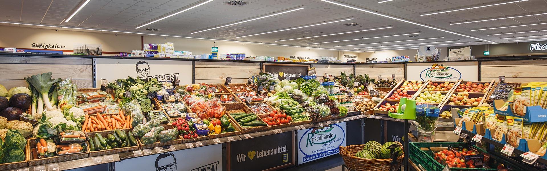 Obst- und Gemüseabteilung bei Onkel Robert