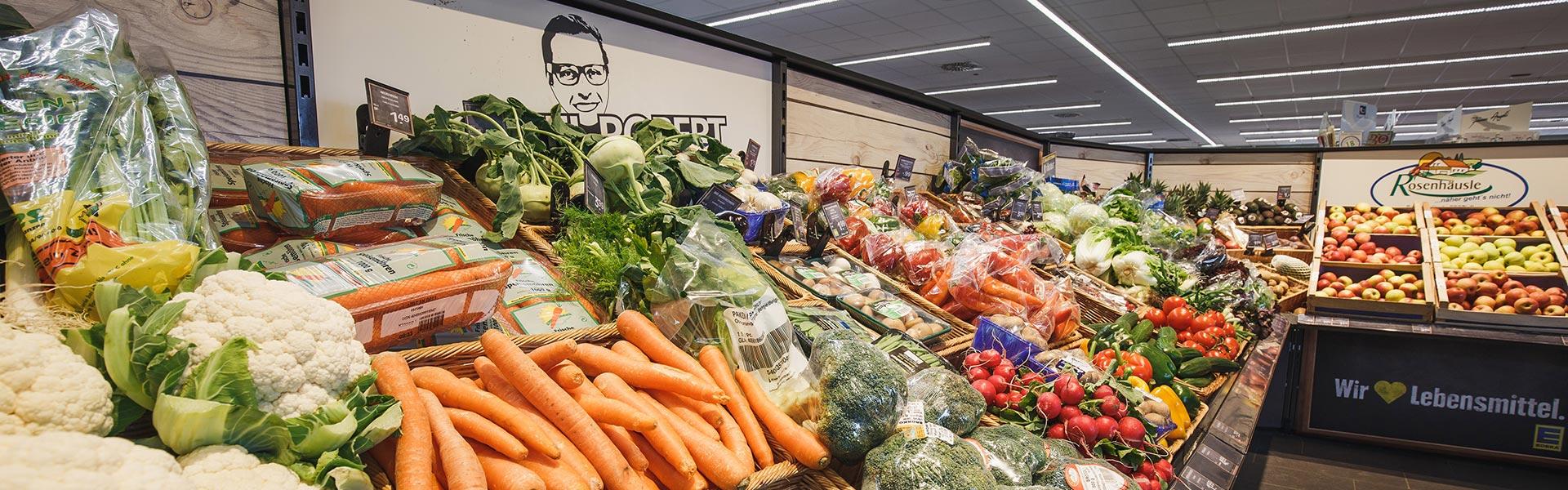 Frisches Obst und Gemüse im EDEKA